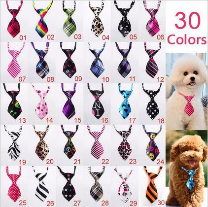 200pc/lot  EMS shipping Colorful Dog Ties Pet Dog Neckties Dog Bow Ties Pet Grooming Supplies W-2
