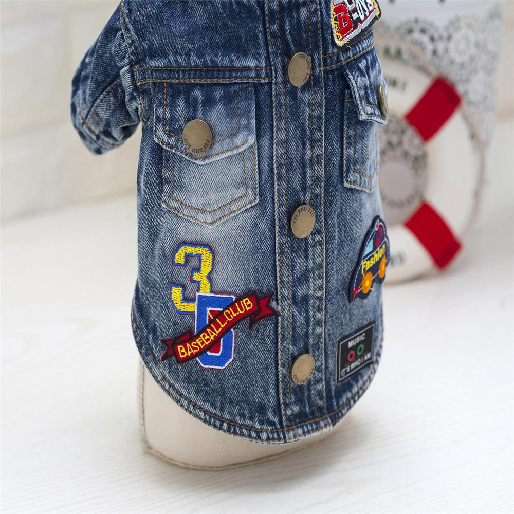 201 New Arrival Winter Pet Dog Clothes Cartoon Jean Dog Coats Puppy Thick Dog Jacket Pet Costume S-XXL For Teddy Chihuahua