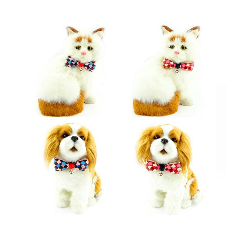 2015 Hot Sales Pet Supplies Red Colors Cats Dog Tie Wedding Accessories Dogs Bowtie Collar Holiday Decoration Clothing Grooming