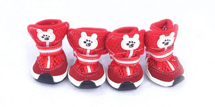 2015 New Cozy Cute Breathable cat dog shoes Shoes For Small Dog Puppy boots breathable shoes for pet Free Shipping