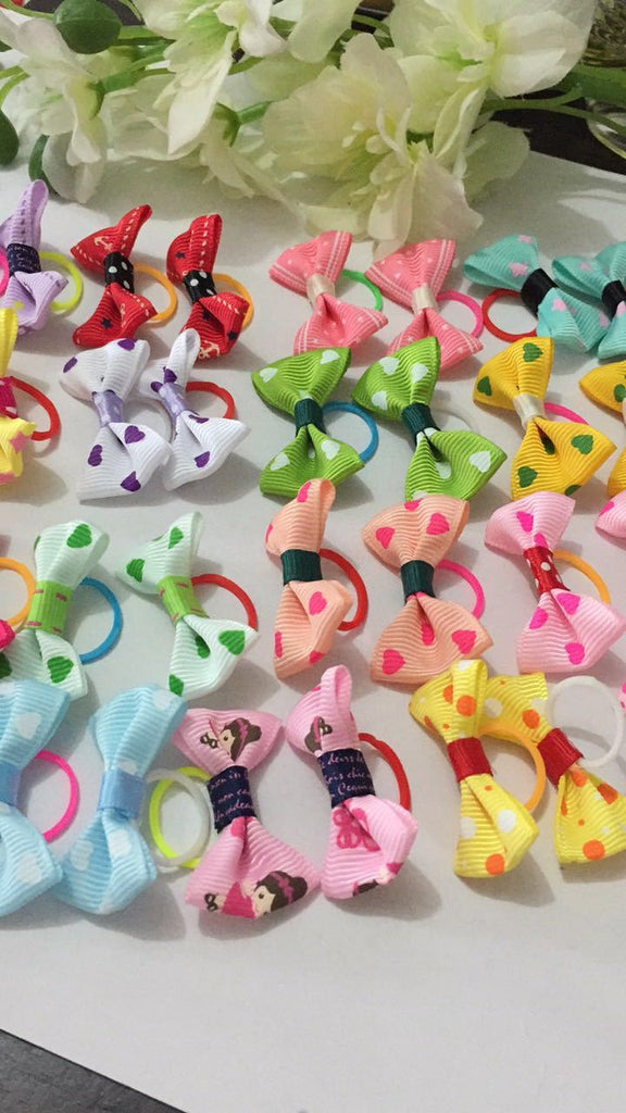 2015 New Handmade Pet Products Dog Grooming Bows Dog Hair Accessories Pet Hair Tie Dog Bow Hairs, wholesale 50 pieces