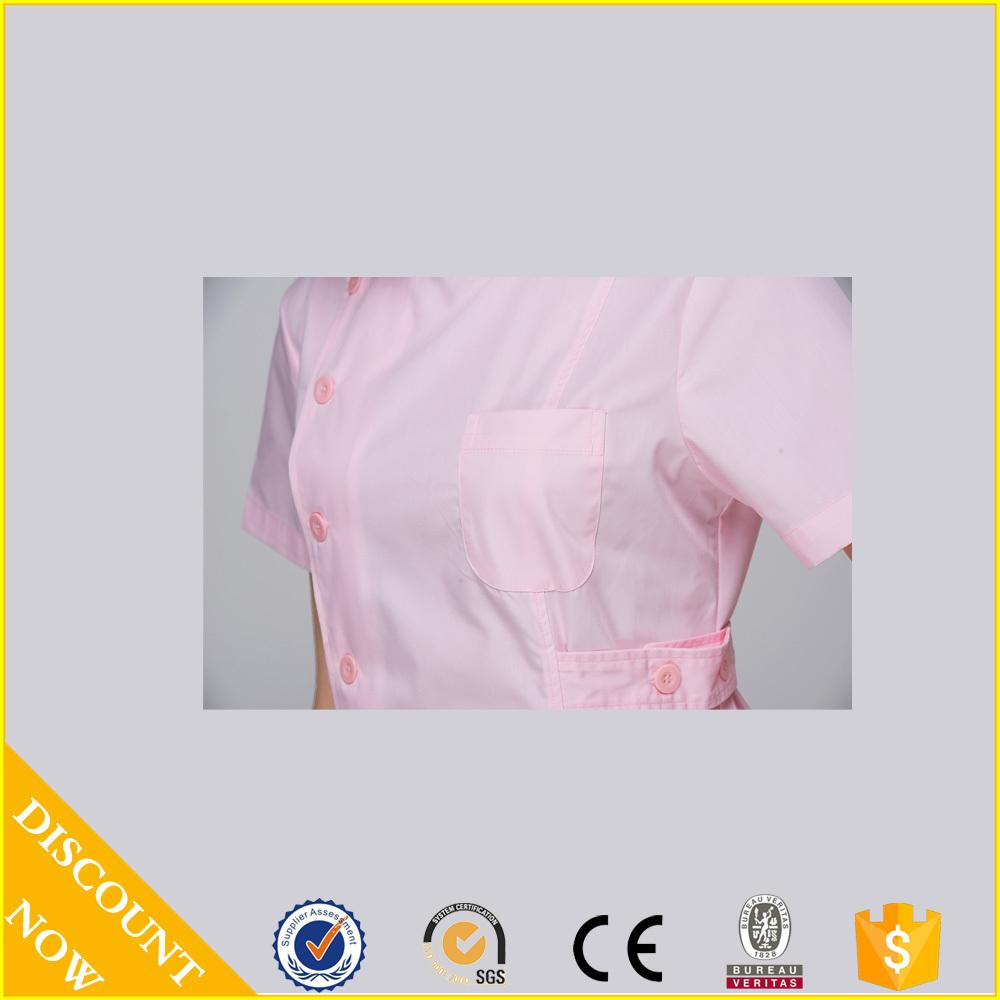 2015 OEM nurse coat dental clinic nurse uniform short sleeve hot selling