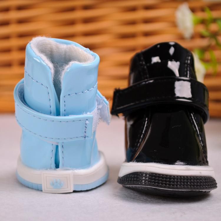 2015 Pet shoes dog shoes high-end glossy PU cleats cleats Pet Supplies