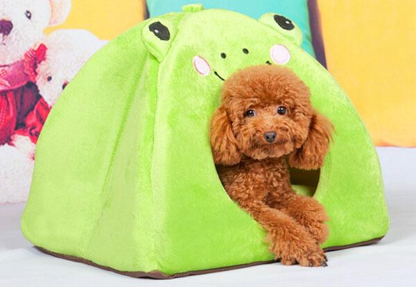 2015 new dogs cats fashion cartoon house doggy warm soft kennels puppy washable bed pet dog litter pets products 1pcs S M L
