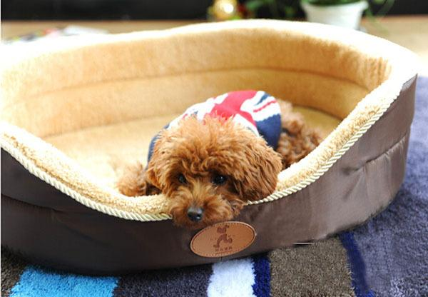 2015 new dogs cats fashion warm soft bed puppy autumn winter kennels pet dog cat litter two sides all can use doggy house