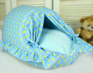 2015 new dogs cats warm soft house doggy fashion princess bed puppy kennels pet dog cat washable litter 1pcs/lot M L XL