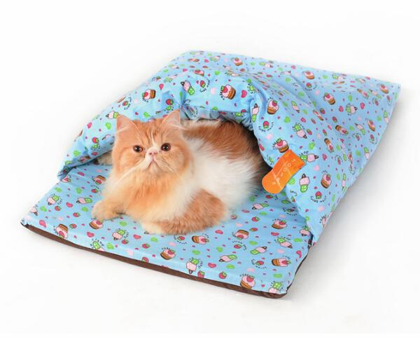 2015 new pet dog cat blue colorful kennels doggy warm soft bed puppy litter dogs cats house pets products nest 1pcs S M
