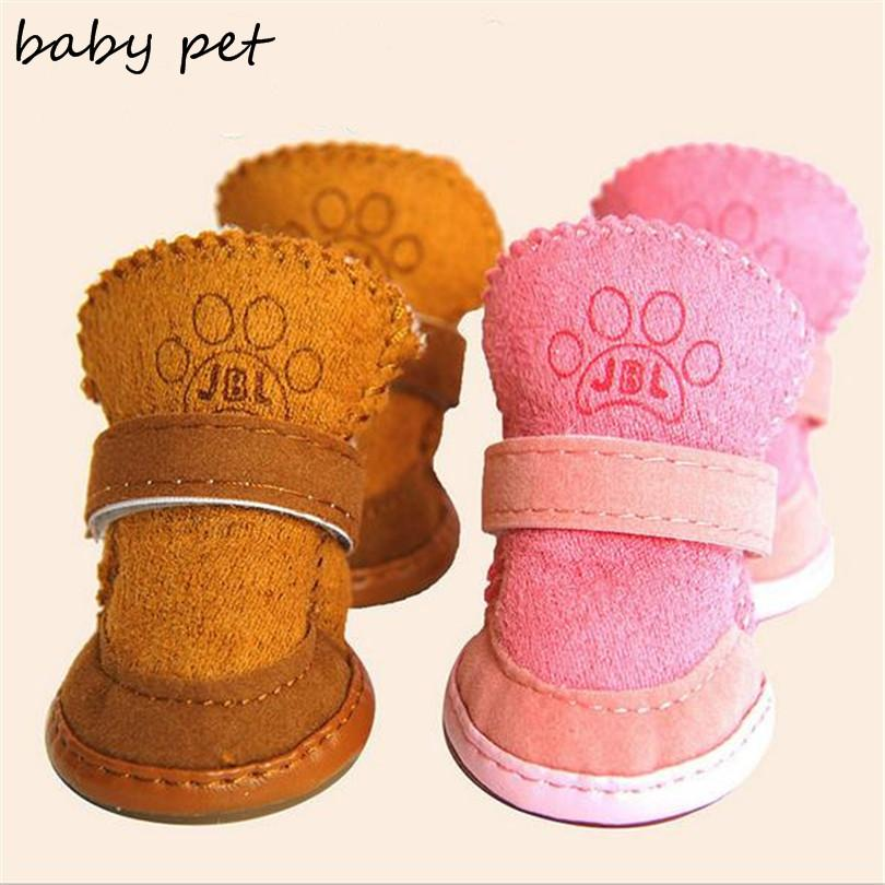 2015 newest dog shoes warm free shipping pet dog Boot Shoes for winter chihuahua teddy Non-skid shoes dog walking sneaker