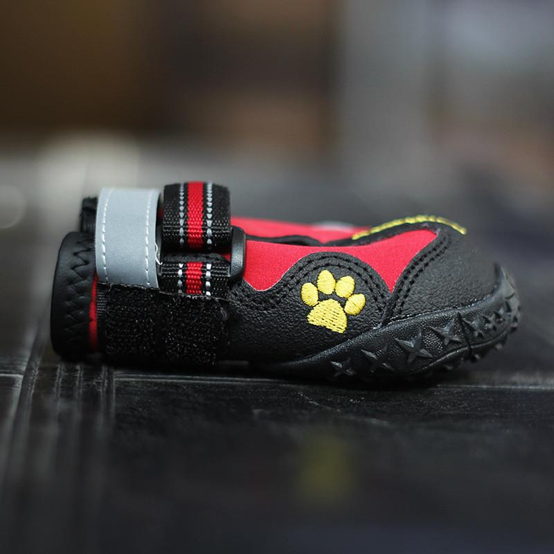 2016 Dog Shoes Waterproof Pet Boots for Medium to Large Dogs Labrador Husky Shoes Rain Shoes Booties