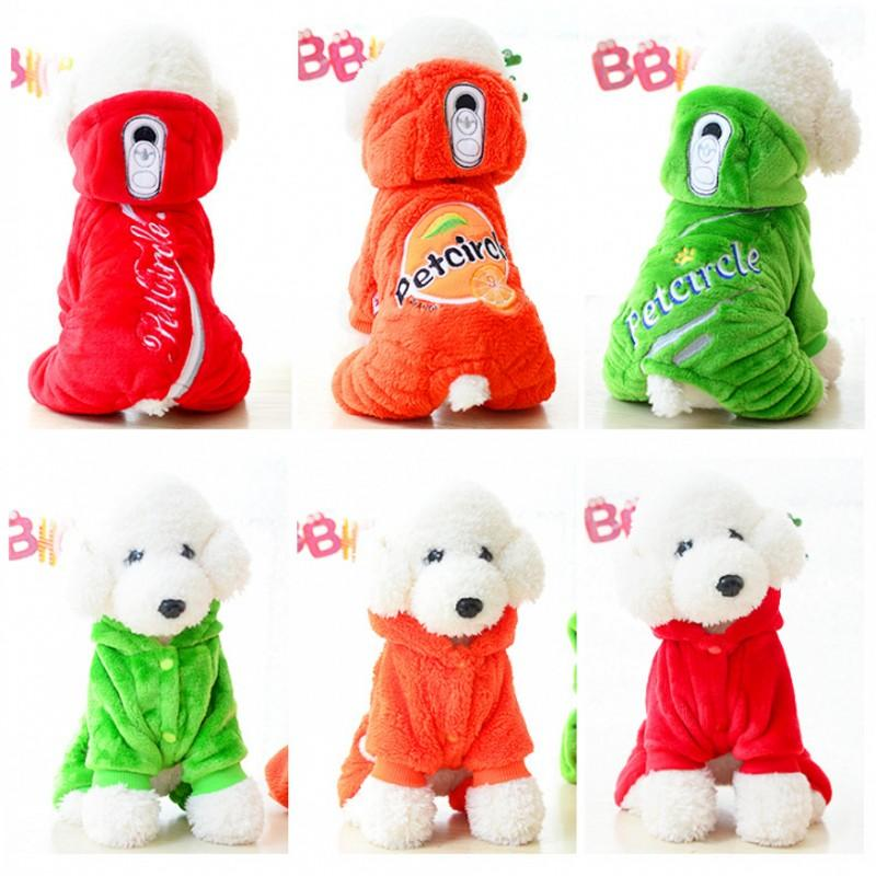2016 Fashion Autumn And Winter Pet Dog Clothes Warm Cartoon Soda Sweatshirt Dog Coat Hooded Coral Velvet Pet jacket Clothing