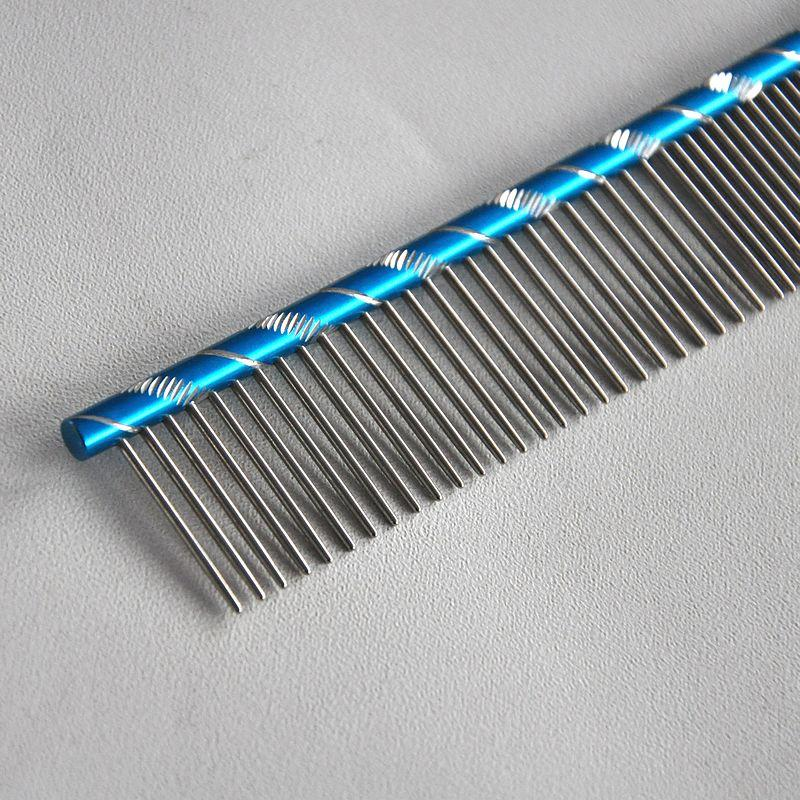 2016 Hot Sale Stainless Steel Hair Trimmer Comb Dog Cat Long Hair Cleaning Brush Vertical Row Comb 2 Colors Straight CombsM-H43