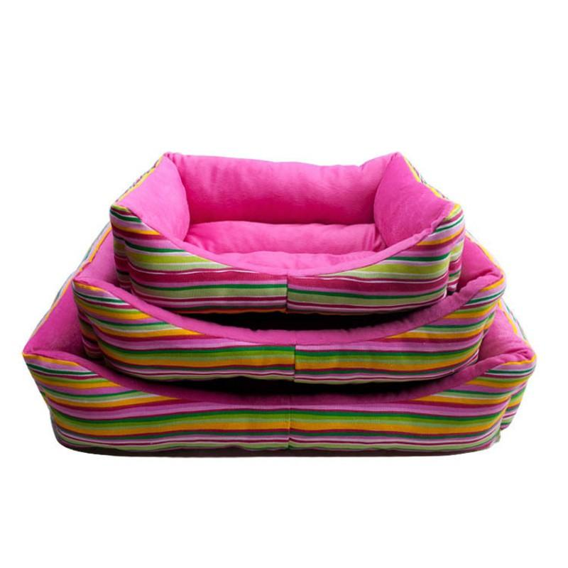 2016 Hot Sales Pet Dog Bed For Small Dog House Autumn And Winter Pet Nest Pink Soft Mat S M L Large Size Kennels
