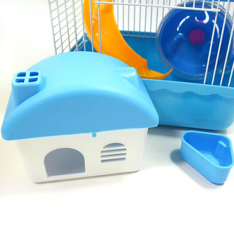 2016 Hot Sell 3 Color Pet Multi-Storey Castle Hamster Cage Travel Carry Novice Practical Cage Hamster Accessories