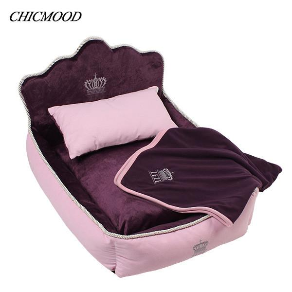 2016 Luxury Princess Pet Bed Dog Bed Cat Mat Sofa Dog House Dog Nest Sleep Cushion Kennel New Free Shipping