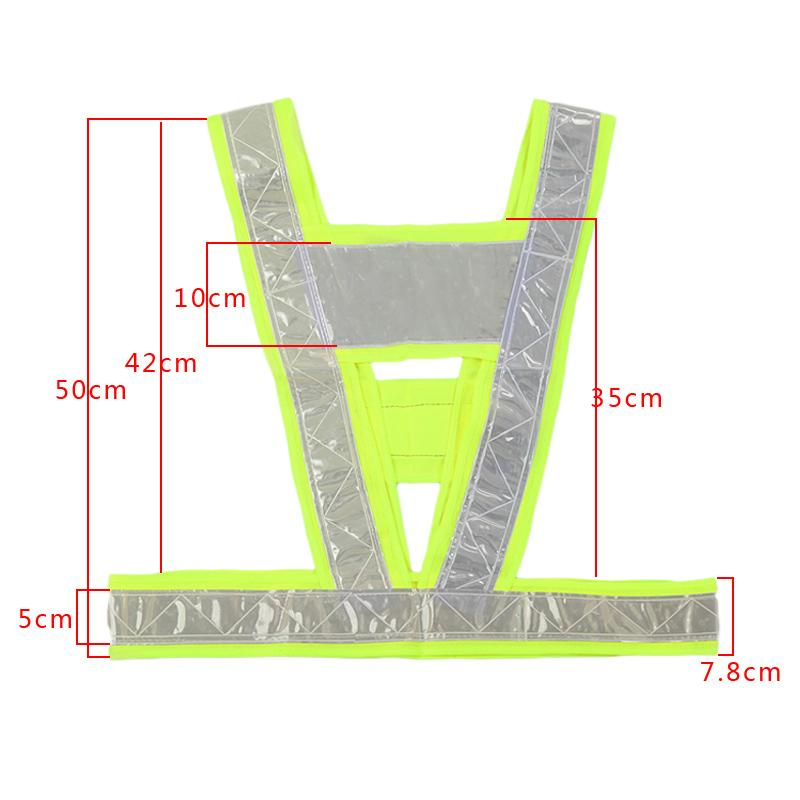 2016 Neon Lime Yellow Reflective Vest V Clothing High Visibility Safety Belt Pet Clothing LXY9