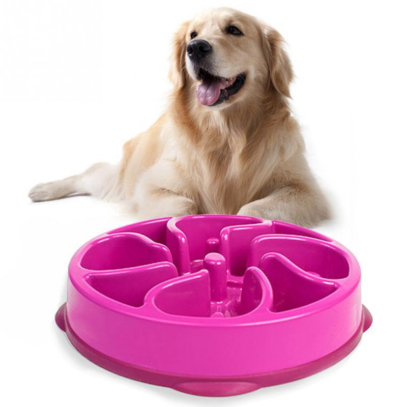 2016 New Anti-choke Pet Bowl Flowers Design Slow Food Bowl Foraging For Dogs Puppy Prevent Obesity Dogs Food Supplies