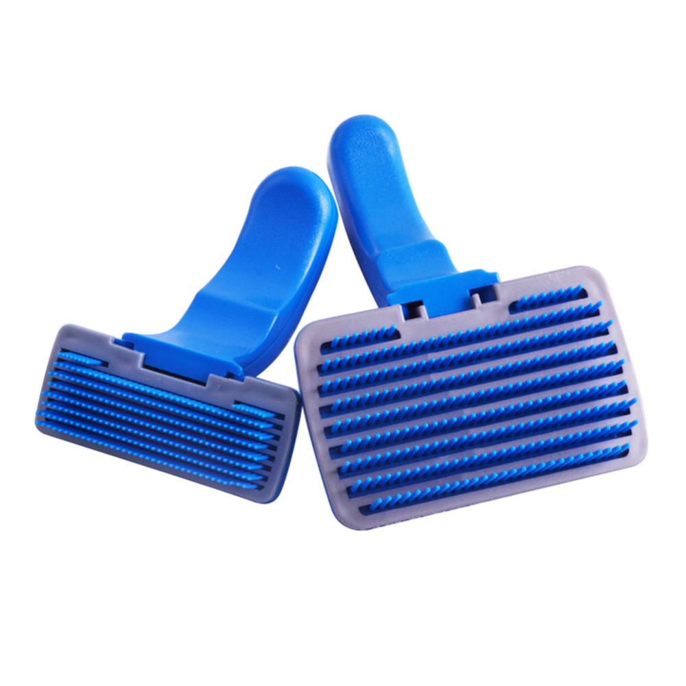 2016 New Arrival Pet Dog Puppy Cat Grooming Self Cleaning Slicker Brushes Combs Shedding Tool Dogs Cats Brush Comb Supplies
