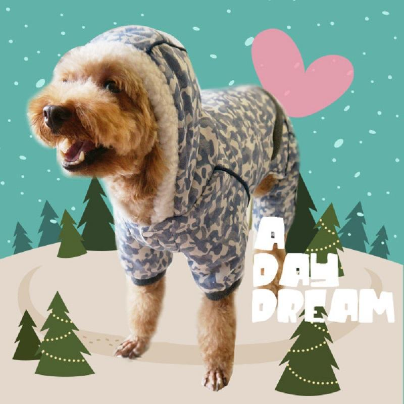 2016 New Design Autumn and Winter Pet Clothing Outwear Warm Clothes for Dog Red and Blue Color Coats Dog Costume Chihuahua