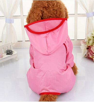 2016 New Dog Clothes Dog Raincoat Pet Clothing Apparel Pet Clothes Puppy Clothing Reflective High Quailty Dog Jacket 6 Sizes