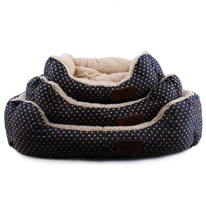 2016 New Dot Autumn And Winter Pet Dog Bed S M L Size Pet Waterloo House Kennels Small Dog Mat Nest For Puppy Cat Free Shipping