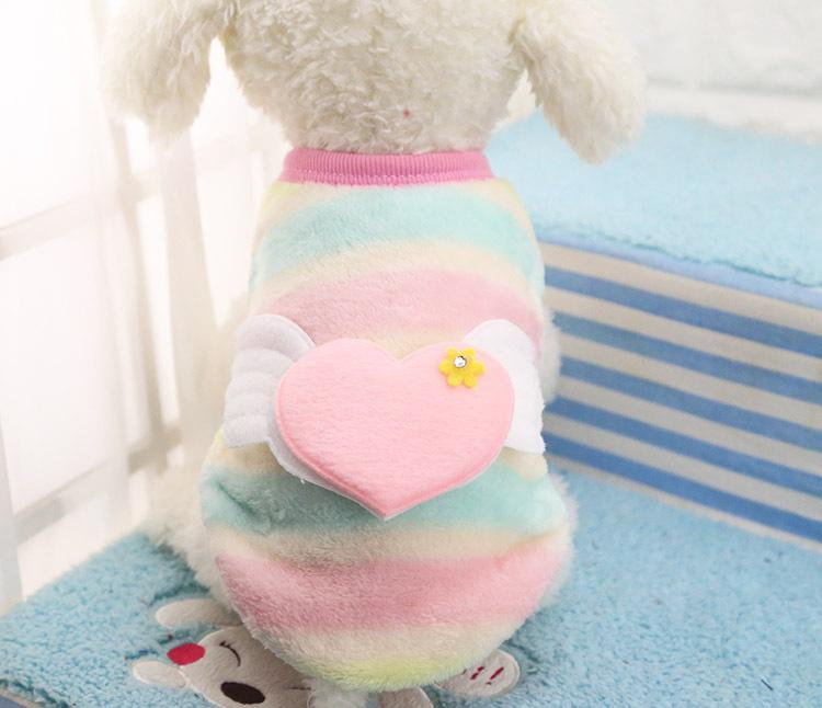 2016 New Fashion Puppy Vest 14 Colors Dog Vests Autumn And Winter Warm Cotton Small Dog Vest Two Feet Pet Shirt Small Dog Cloth
