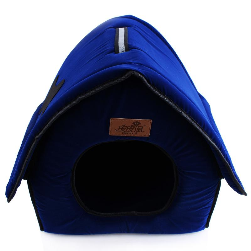 2016 New Flocking Cloth Pet Bed Kennel Cute Bone Dog House Waterloo Red Blue Pet Furniture Size 41*37*42CM Free Shipping,,KeeboVet Veterinary Ultrasound Equipment,KeeboVet Veterinary Ultrasound Equipment.