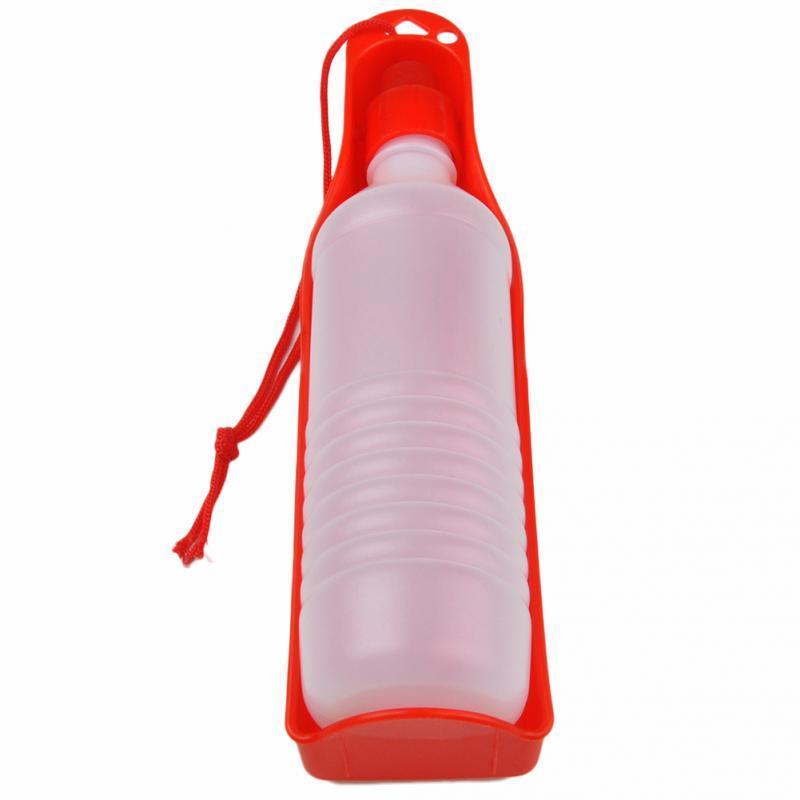 2016 New Pet Folding Drinker 500ml pet dog cat outdoor portable drinking bottle bowl pet travel drinker