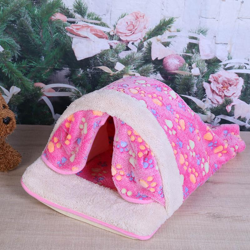 2016 New Pet Product Cat House Bed Foldable Soft Autumn Winter Warm Sleeping Dog Bed Cat Bed Sofa Kennel For Small Pet