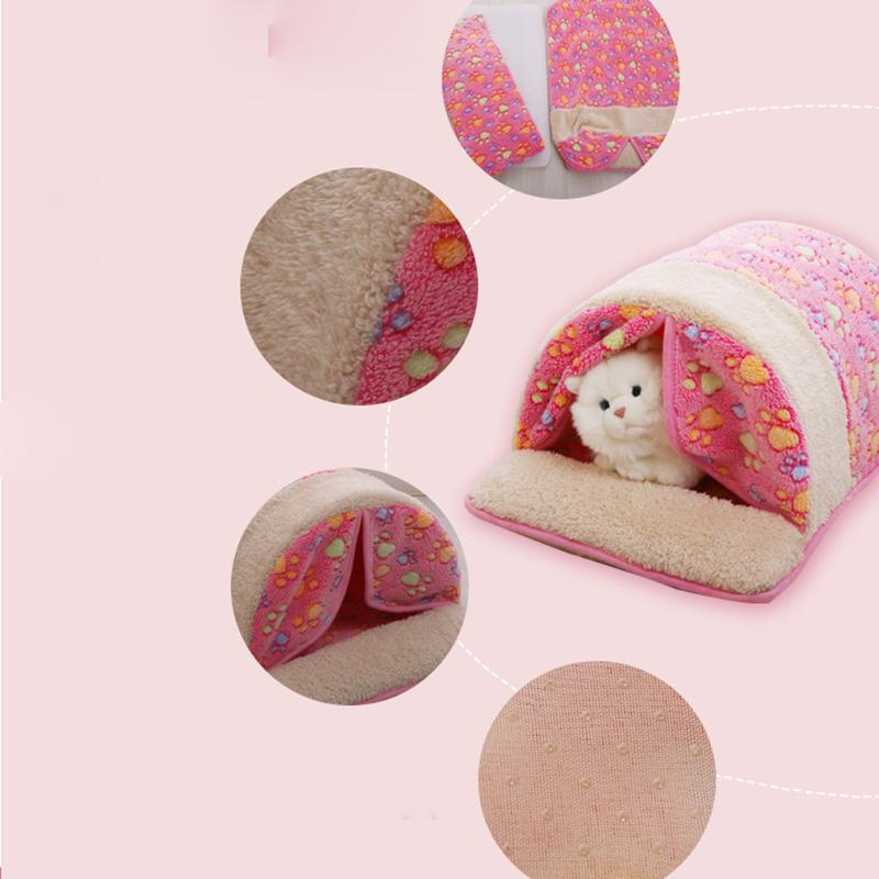 2016 New Pet Product Cat House Bed Foldable Soft Autumn Winter Warm Sleeping Dog Bed Cat Bed Sofa Kennel For Small Pet #35