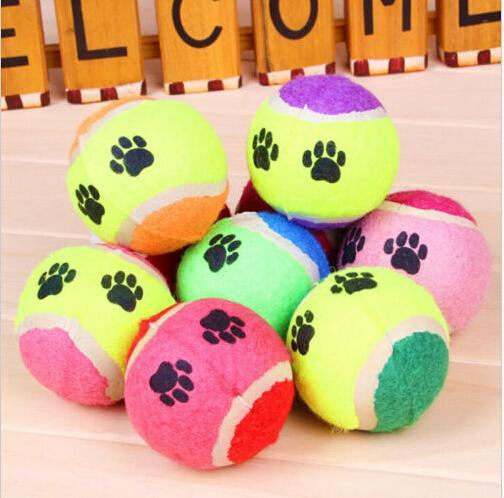 2016 New Pet Toy Ball Dog Toy Tennis Balls Run Fetch Throw Play Toy Chew Toy Pet Dog Supplies 1 Pcs Wholesale