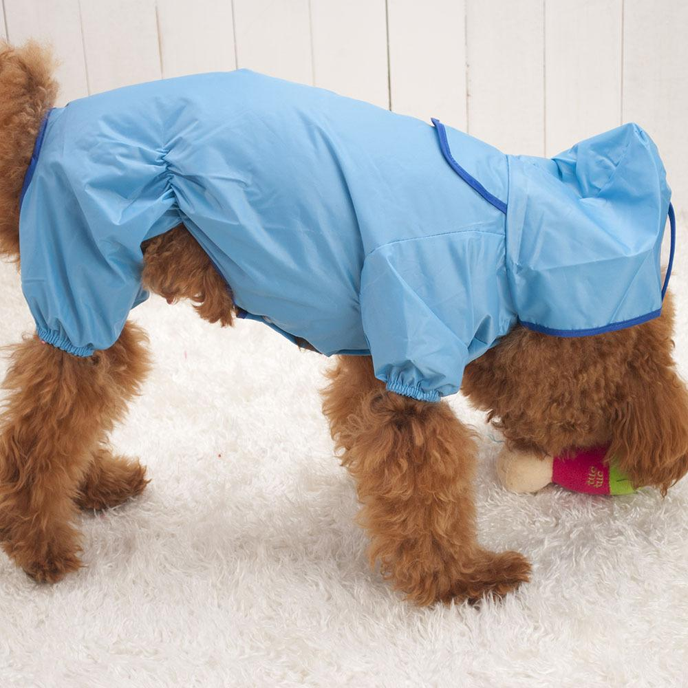 2016 New Promotion Waterproof Pet Puppy Dogs Hooded Rain Coat Slicker Dust Jacket Clothes Hot Sale