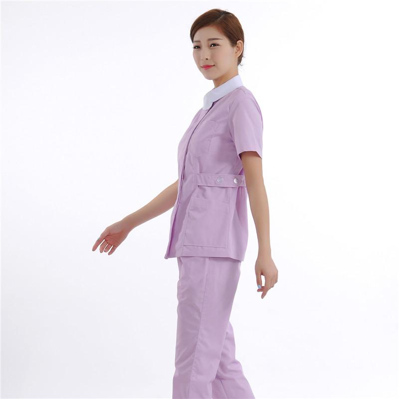 2016 New design Women's  Short Sleeve Waist Adjustable Nurse Uniform Dental Clinic Nursing Working uniforms set  Free Ship