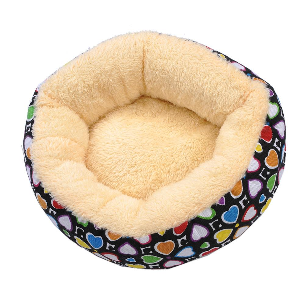 2016 Newest Design Soft Material Heart Pattern Pet Nest Round Colored Winter WarmDog Nest Kennel Pet Dog Bed Warming Dog House