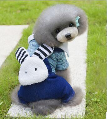 2016 Newest Pet Dog Clothes Winter Warm Lovely Rabbit Dog Coat Fashion Dog Hoodies With 2Colors Sizes S-XXL For Chihuahua