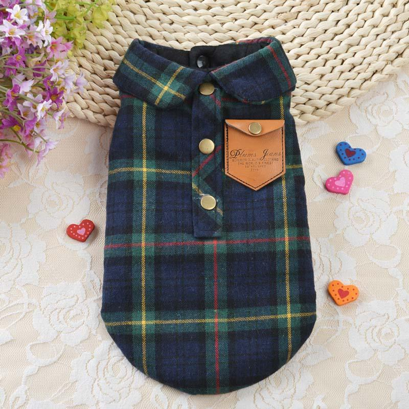 2016 Padded Dog Jacket Designer Warm Plaid Winter Dog Coats Pet Clothes Small to Large Dog Clothes Overcoat Winter