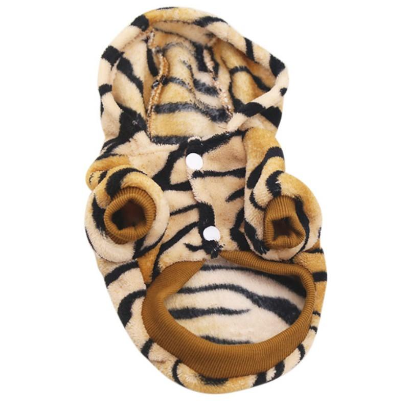 2016 Pet Dog Cat Clothes Tiger Dog Winter Coats Warm Dog Hoodies For Chihuahua Small And Large Dog Costumes