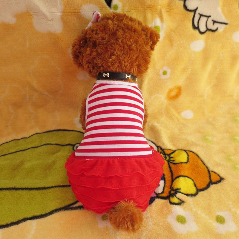 2016 Pet Dress Teddy Princess Dog Dresses For Dogs Suitable Pet Clothes