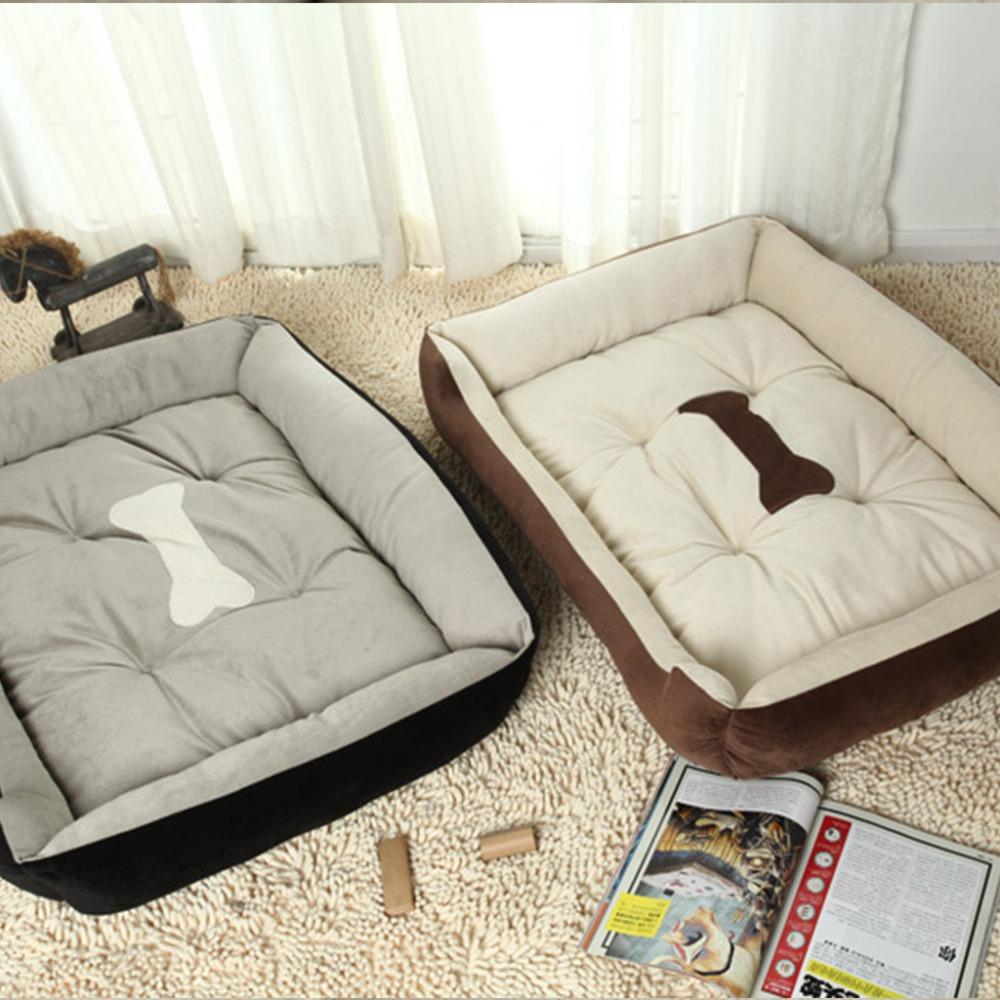 2016 Plus Size Large Dog Bed Kennel Mat Soft Pet Dog Puppy Warm Bed House Plush Cozy Nest Dog House Pad Warm Pet House