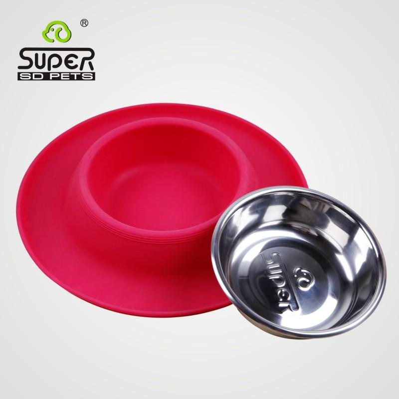 2016 Real Comedero Perro Hamster Gamelle Chien Super Pet Supplies Dog Bowl Antiskid Resistance And Leakproof Cap Shape Silicone