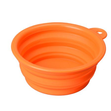 2016 Solid color Pet Cat dog Bowl folding collapsible silicone puppy doggy feeder water food container foldable style on sale