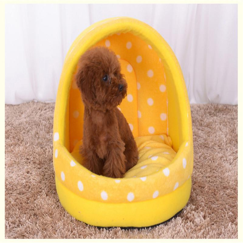 2016 Thickened Coral velvet Dog Kennel Tent Tai Diji Doll Dog House Soft and comfortable pet Dog cat Bed 3 color pet cat house