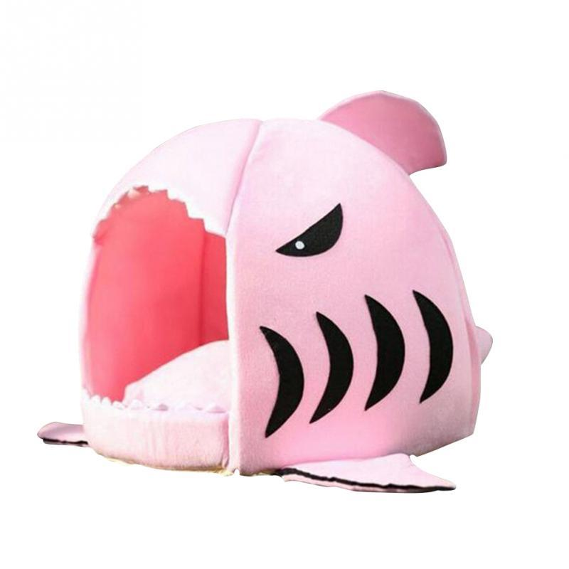 2016 Winter Pet Products Warm Soft Dog House Pet Sleeping Bag Shark Dog Kennel Cat Bed Cat House cama perro 2 Size
