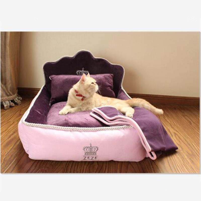 2016 high quality Luxury  noble Princess Pet Bed Dog Bed Cat Mat Sofa Dog House Dog Nest Sleep Cushion Kennel New Free Shipping