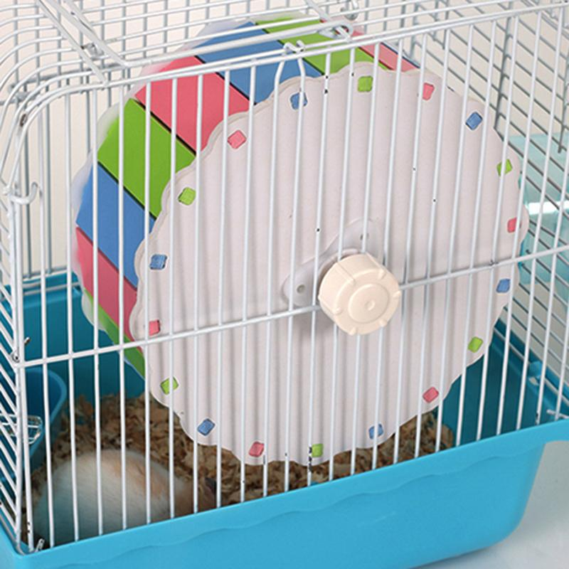 2017 1pcs Running wheel Small Pet Plastic Hamster Wheel Colorful Hamster Running Wheel Hamster Cage Accessories Pet Hamster Toys