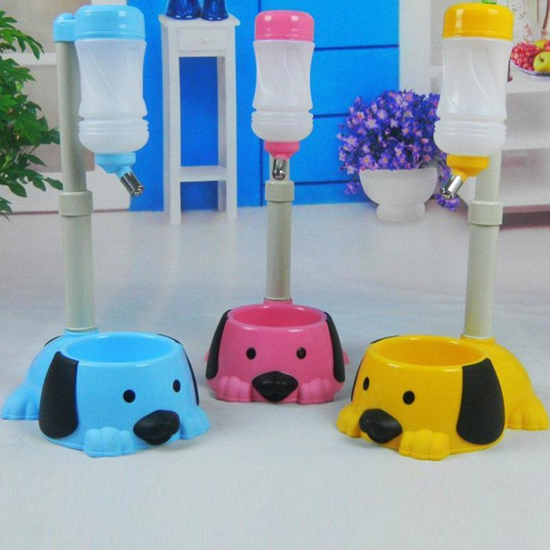 2017 Automatic  Separable Pole Pet Drinking Water Bottles Pet Dog Drink  Bottl Feed And Drinking Water Can All-Around Bowl