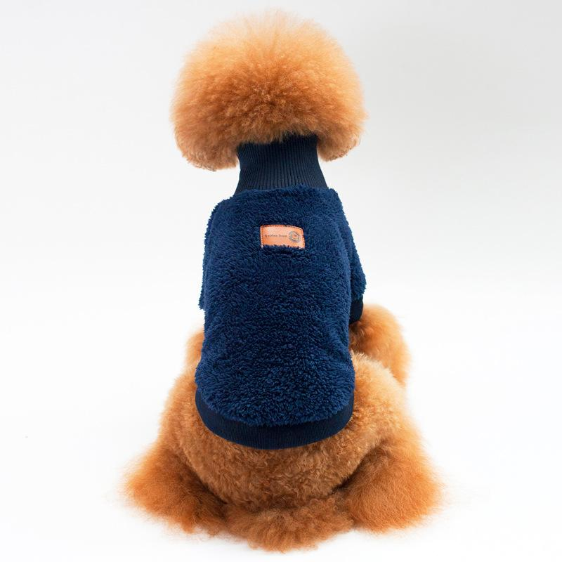 2017 Autumn and Winter Newest Design Pet Clothing Velvet Solid Color High Collar Two Feet Pet Sweaters for Small Dog Clothes