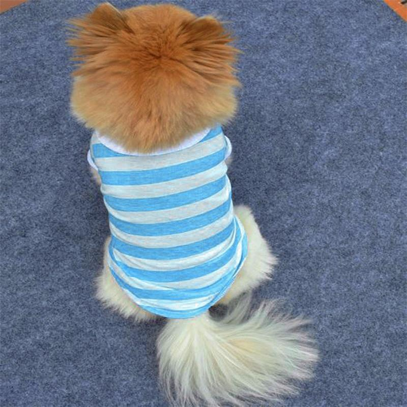 2017 Classic Dog Red & Blue T-Shirt Lapel Stripe Puppy Pet Cat Dog Clothes Summer Ropa De Verano Para Perros Pet Supplies