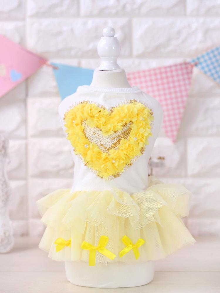 2017 Dog Clothes Roupa Cachorro Ropa Para Perros And Color Xs-xl Size Gauze Veil Heart-shape Loving Pet Dog Dress Clothes