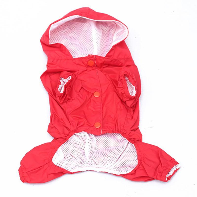 2017 Dog Raincoat 5 Colors Raincoat for dogs Fashion Pet Rain Coat Jacket Clothes for dogs