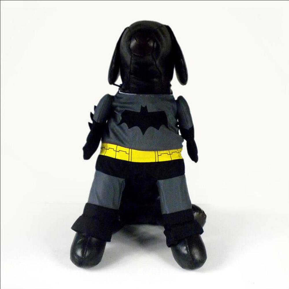2017 Fashion Hallowmas Christmas Pet Dog Clothes Black Batman Dog Coats Cotton Dog Costume 4 Sizes For Small and Large Dogs